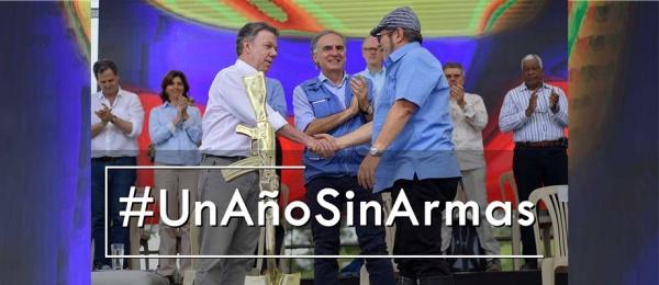 Un año sin armas, el gran logro de la paz en nuestra Colombia